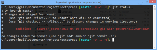 Using Git with Powershell, Posh-Git and Console2